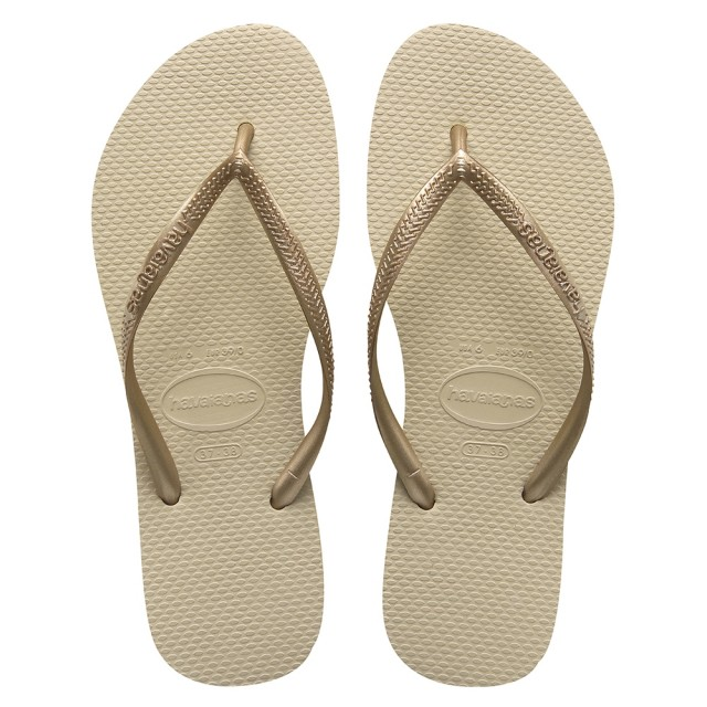 HAVAIANAS SLIM sand grey / light golden