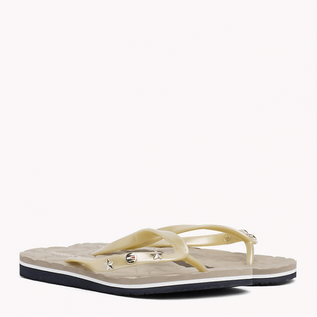 TOMMY HILFIGER METALLIC STAR SLIPPER light gold