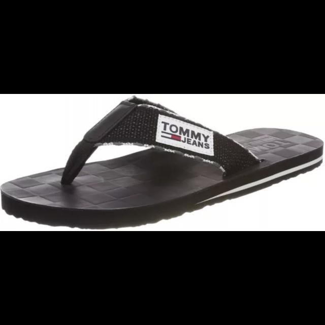 tommy hilfiger jeans slipper black