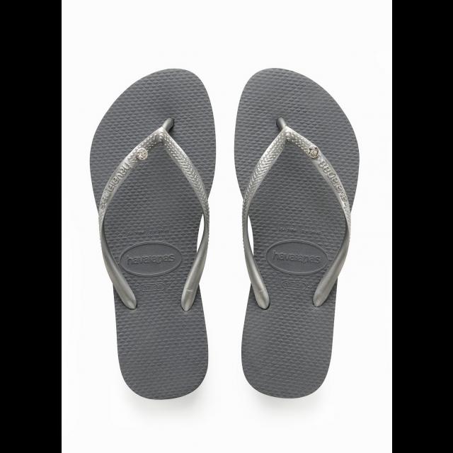 HAVAIANAS SLIM CRYSTAL GLAMOUR steel grey