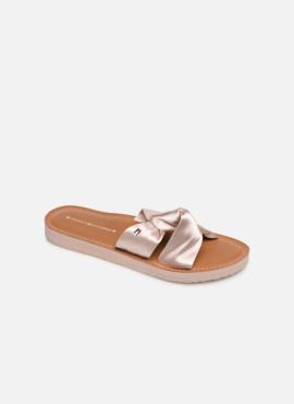 TOMMY HILFIGER SATIN ELEVATED BEACH SANDAL monrovia