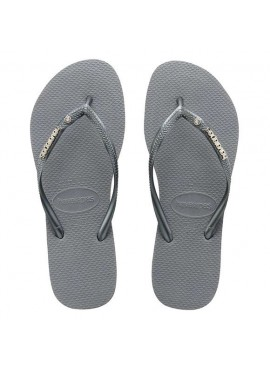HAVAIANAS SLIM METAL LOGO AND CRYSTAL