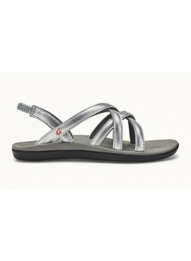 OLUKAI KALAPU GIRLS silver pale grey