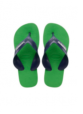 HAVAIANAS KIDS MAX Blue denim / Leaf Green