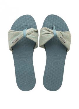 HAVAIANAS YOU ST TROPEZ MATERIAL Silver blue